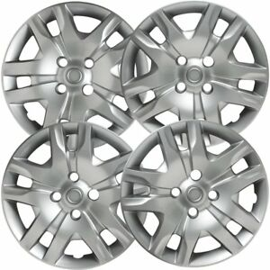 Set Of 4 16 Inch Snap On Silver Hub Caps For 2012 2015 Nissan Sentra