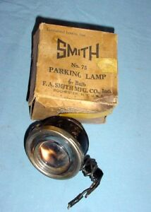 Nos Smith Parking Stop Tail Light With Blue Jewel Lens Vintage Model A T Ford