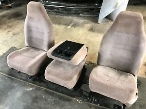 Ford Truck 40 20 40 Seat For Extended Cab Tan 92 93 94 95 96 97hd