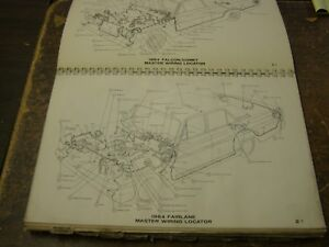 Oem Ford 1964 Wiring Diagram Book Galaxie Fairlane Comet Falcon Truck Lincoln