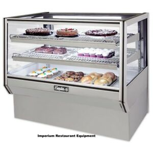 Leader Cbk48 Sc 48 Glass Counter Bakery Display Case New