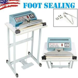 New 110v 12 Foot Pedal Impulse Sealer Heat Seal Machine Plastic Bag Sealing Us