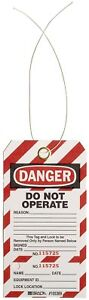 Brady Two part Perforated danger Do Not Operate Tag Cardstock 5 3 4 3 Of