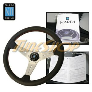 Italy Nardi Rally Deep Corn 350mm Steering Wheel Black Perforated Leather Red s
