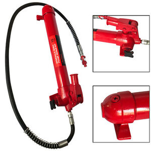 10 Ton Porta Power Hydraulic Jack Auto Body Frame Repair Tool Lift Ram Kits