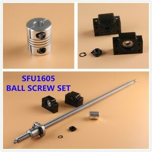 Sfu1605 Cnc Ball Screw Set Nut Bk bf12 End Supports Couplers L300 2000mm