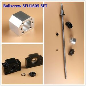 L300mm 2000mm Cnc Ball Screw Sfu1605 C7 Bk bf12 End Support Ballnut Housing