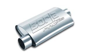 Borla 40665 Universal 24 Proxs Bare Steel Muffler Oval 2 5 Center offset