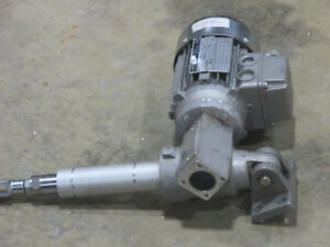 Laipple Keb Right Angle Gearmotor With Extended Output M56b2 3 Phase