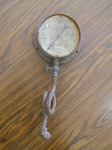 Antique Schaffer Budenberg Ny Steam Gauge Pierce Butler Pierce Steampunk