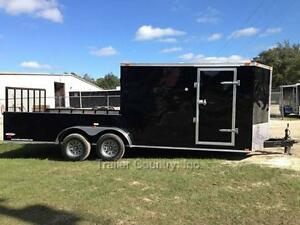 New 2018 7x20 7 X 20 Hybrid Enclosed Utility Cargo Motorcycle Hunting Trailer