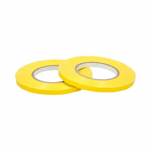 24 Rolls Yellow Poly Bag Tapes 3 8 X 180 Yards Sealing Plastic