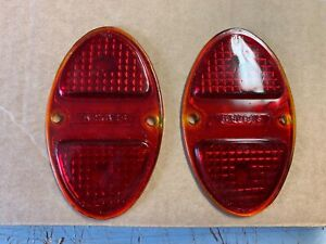 1931 32 Chevy 1931 41 Truck Tail Light Lenses Pair Nos Stadium 218
