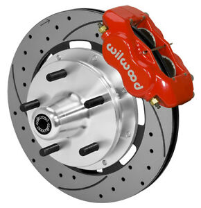 Wilwood Disc Brake Kit front 74 80 Pinto mustang 2 5x5 12 Drilled red Calipers