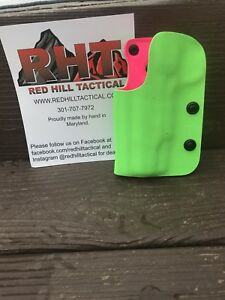 "1911 5"" NO RAIL 2 Layer Zombie GreenHotpink OWB USPSA LEFT"