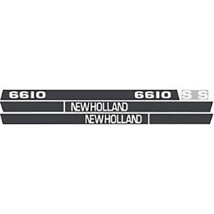 High Quality 6610s New Holland Tractor Hood Decal Kit