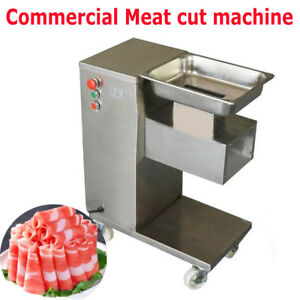 Us Stainless Commercial Meat Slicer Meat Cut Machine Cutter 500kg hour 3mm Blade
