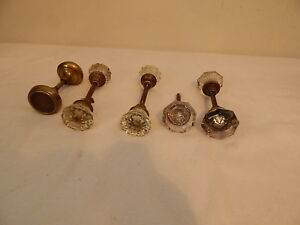 Vintage Door Knobs Lot Of 4 Sets Glass Antique