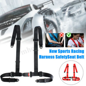 4 Point Car Auto Vehicle Racing Safety Seat Belt Nylon Harness Quick Release New
