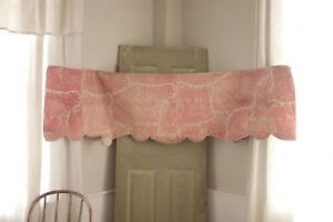 Antique French Toile De Normandy 1825 Quilted Quilt Pink Mary Stuart