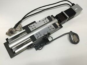 Parker 404100xrmsd2h2l2c2 Linear Actuator Positioner Stage 100mm Travel W motor