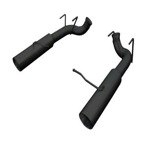Pypes Sfm79msb Black Pype Bomb Axle Back Exhaust System W 4 Tip For Mustang V6