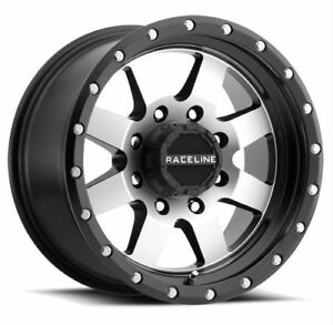 18x9 Raceline Defender 6x135 Et18 Black Machined Rims New Set 4