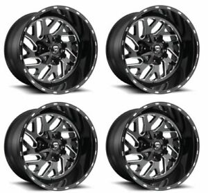 Fuel D58122957060 Set 4 22x9 5 Triton 5x5 5 20 Offset Gloss Black Milled Wheels