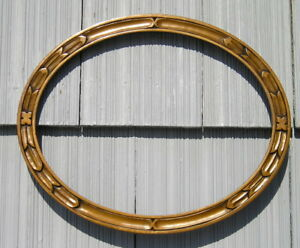 Amazing Victorian Art Crafts Mission Gold Bronze Oval Picture Frame 10 1 4 X 13