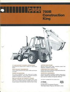 Equipment Brochure Case 780b Construction King Loader Backhoe C1981 e4126