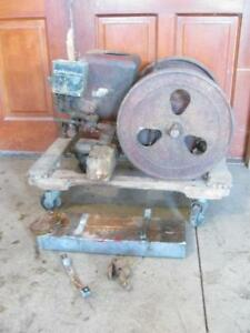 Antique Economy 2 Hp Hit Miss Gas Engine No Ta232623sr For Parts Or Restore
