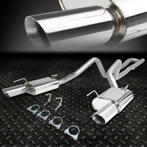 For 05 10 Ford Mustang 4 0 V6 Stainless Steel Catback Exhaust System Muffler Tip