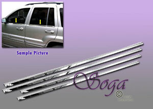 For 1999 2004 Jeep Grand Cherokee Chrome Stainless Steel Window Sill Sills 4pcs