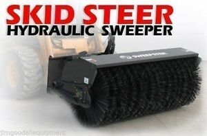 Front Mounted Tractor skid Steer Sweepster 6ftx30 all Poly wire Combo 8 15 Gpm