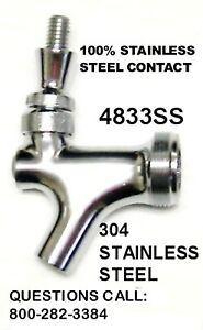 All 304 Stainless Steel Beer Faucet Kegerator Home Beer Tower Keg Bar Tap 4833ss