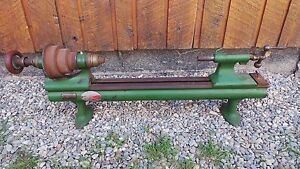 Rare Antique Stark No 3 1 2 Metal Lathe Waltham Original Finish