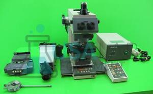 Olympus Vanox Ahbs3 Microscope With Controller Light Extra Optic Head