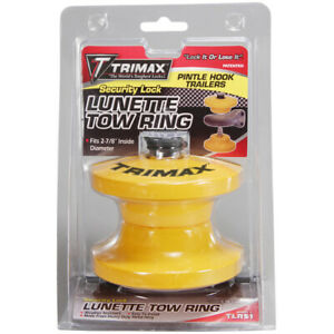 Trimax Locks Lunette Tow Ring Trailer Lock Pintle And Hook Ring Lock Tlr51