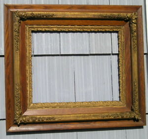 Rare Antique Aesthetic Eastlake Victorian Oak Ornate Gesso Picture Frame 16 20
