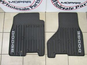 Dodge Ram Quad Cab Front Dark Slate Gray Slush Mats New Oem Mopar
