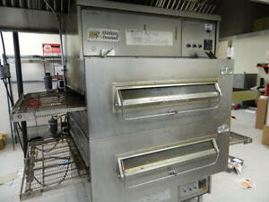 Middleby Marshall Ps 360w s Double Stack Natural Gas Conveyor Pizza Ovens