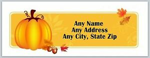 Personalized Address Labels Fall Autumn Pumpkin Buy 3 Get 1 Free ac 182