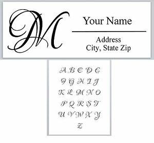 30personalized Address Labels Monogram Buy 3 Get 1 Free ac 613