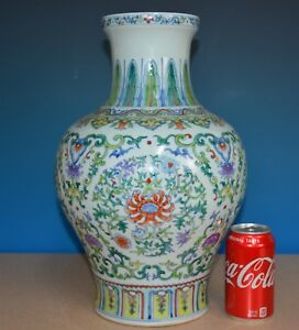Fine Antique Chinese Porcelain Vase Doucai Qianlong Mark Rare I8962