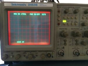 Tektronix 2465b Oscilloscope Calibrated Refurbed At Bin Guaranty Available