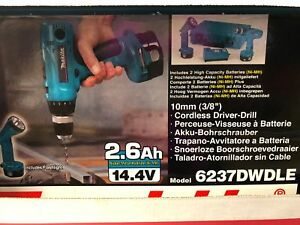Makita 6237dwdle 3 8 cordless Driver Drill 14 4v With 2 Batteries And Flashlight