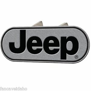 Jeep Classic Logo Oval Brushed Metal Hitch Plug Cover Fits 1 1 4