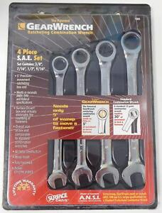 Gearwrench 9304 Ratcheting Wrench Set 4 Pc Sae Combination