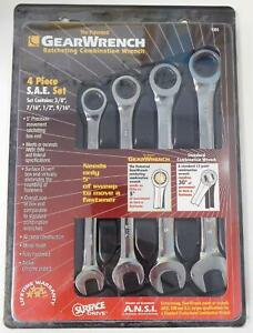 Gearwrench 9304 4 Piece Sae Ratcheting Combination Wrench Set 12 Point