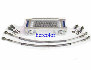 Universal Motorcycle Oil Cooler Radiator Cnc Plate Cooling 110cc 200cc Tr